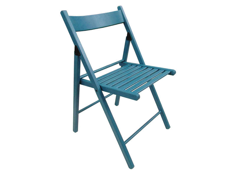 Chaise pliante ulla coloris bleu vente de table et for Conforama chaise de jardin
