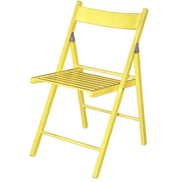 Chaise pliante ULLA coloris jaune
