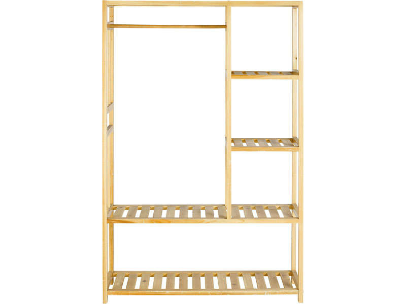 Structure penderie wardy vente de rangement enfant for Conforama penderie