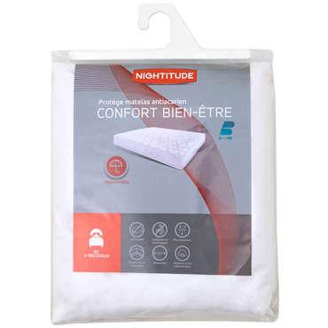 Protège matelas 1 personne 90x190 cm CONFORT BIEN-ETRE