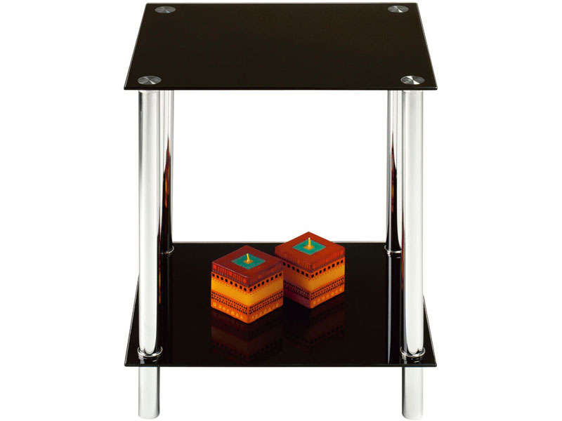 Bout de canapé HAPPY coloris noir - Vente de Table basse - Conforama