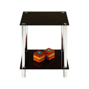 bout de canap happy coloris noir vente de table basse. Black Bedroom Furniture Sets. Home Design Ideas