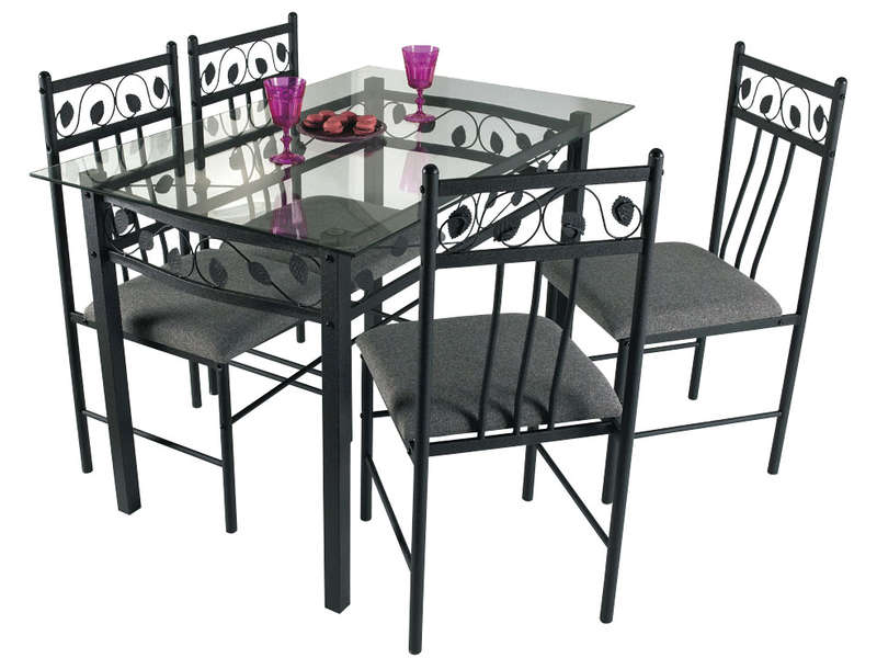 Ensemble table 4 chaises shanga vente de ensemble - Conforama table de cuisine et chaises ...