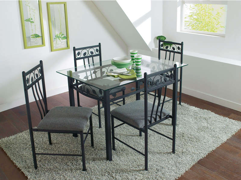 Ensemble table 4 chaises shanga vente de ensemble for Table a manger plus chaise