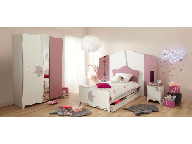 lit 90 cm tiroir lit en option alice coloris d cor laqu blanc vente de lit enfant conforama. Black Bedroom Furniture Sets. Home Design Ideas