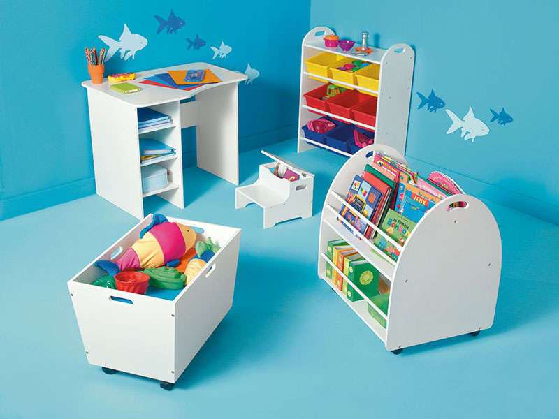 biblioth que enfant ken coloris blanc vente de petit. Black Bedroom Furniture Sets. Home Design Ideas