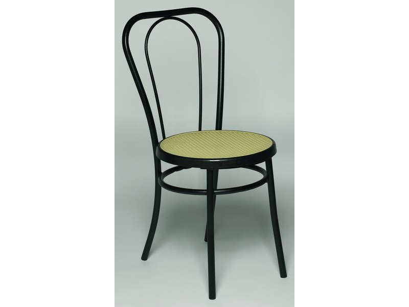 Chaise bistro coloris noir vente de chaise conforama for Chaise sejour noir