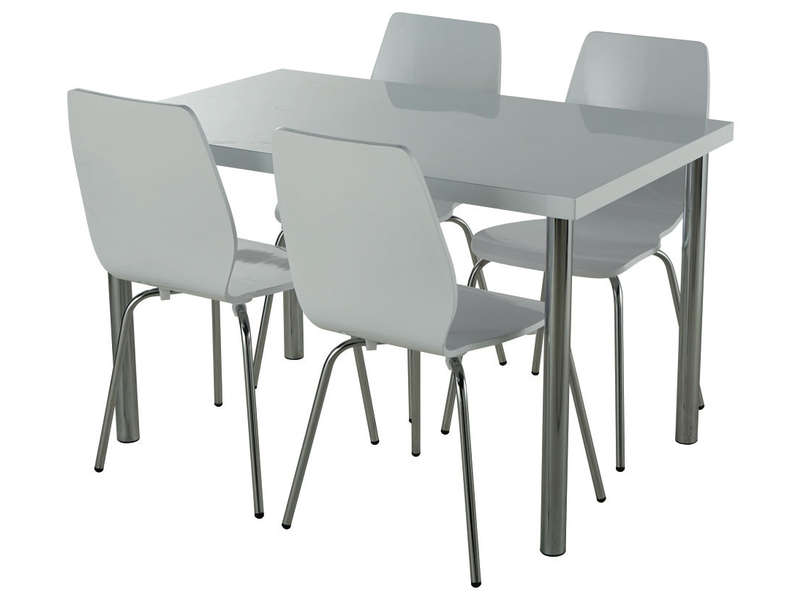Ensemble table 4 chaises for Table et chaise conforama