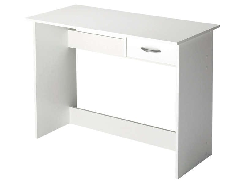 bureau 1 tiroir alpin coloris blanc vente de bureau. Black Bedroom Furniture Sets. Home Design Ideas