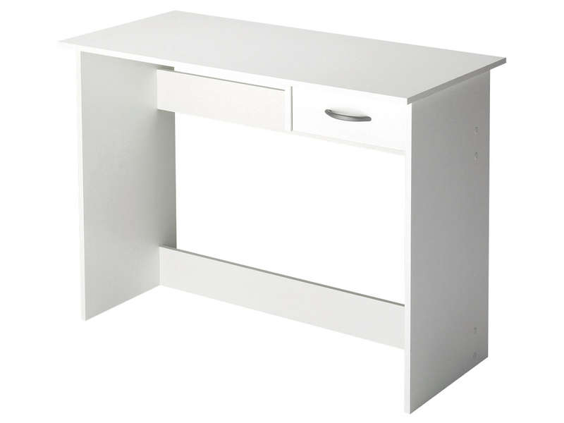 bureau 1 tiroir alpin coloris blanc vente de bureau conforama. Black Bedroom Furniture Sets. Home Design Ideas