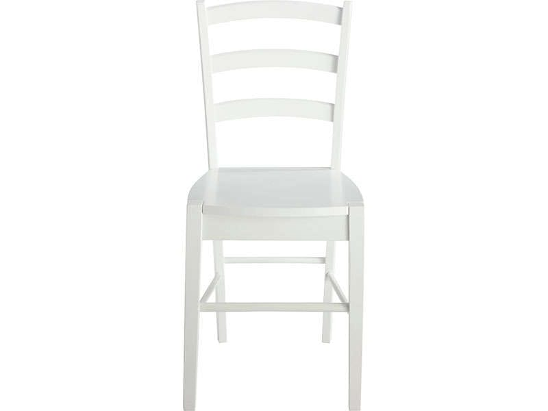 Chaise juliette coloris blanc vente de chaise conforama for Chaises blanches bois