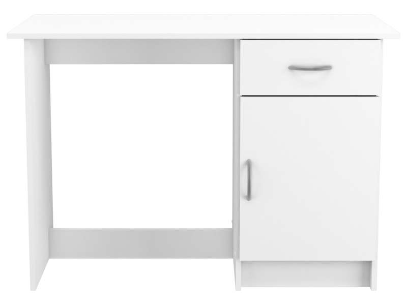 bureau 1 porte 1 tiroir osiris coloris blanc vente de bureau conforama. Black Bedroom Furniture Sets. Home Design Ideas