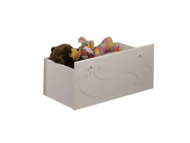 coffre jouets alice coloris blanc vente de accessoires de chambre enfant conforama. Black Bedroom Furniture Sets. Home Design Ideas