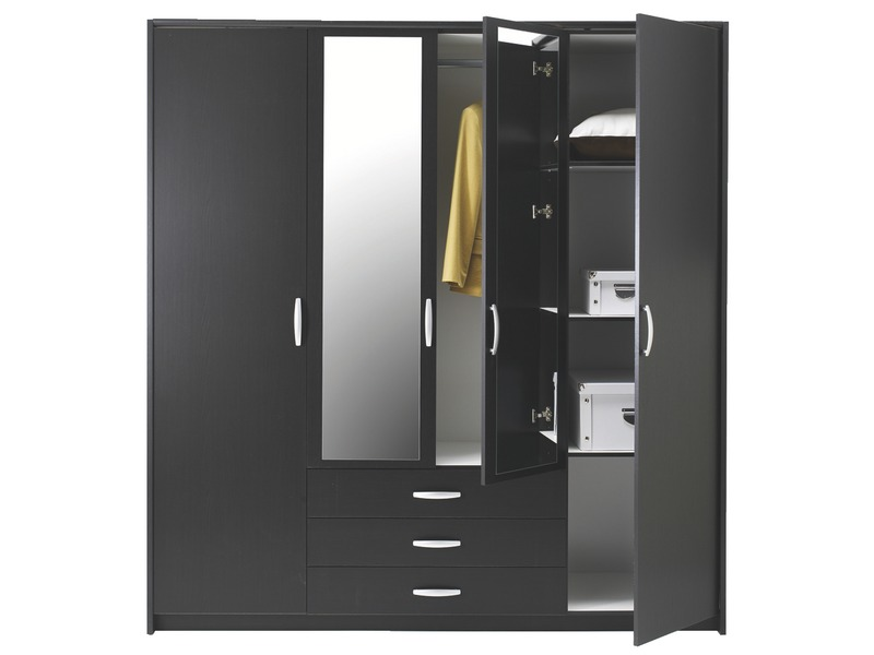 armoire 3 portes conforama. Black Bedroom Furniture Sets. Home Design Ideas