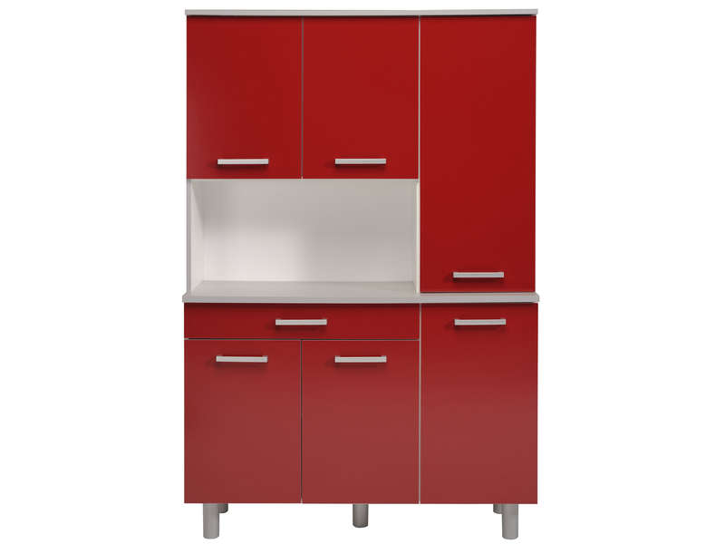 Buffet 120 cm cerise vente de buffet de cuisine conforama for Meuble cuisine rouge