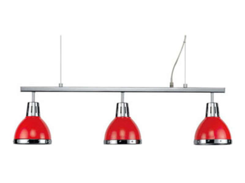 barre 3 lampes cynthia coloris rouge vente de lustre et suspension conforama. Black Bedroom Furniture Sets. Home Design Ideas