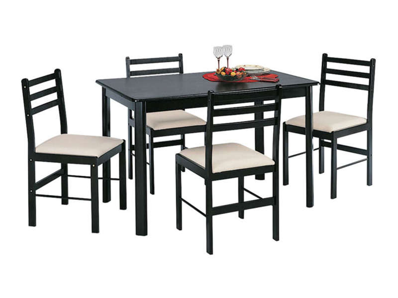 Ensemble table 4 chaises new quatro dark vente de ensemble table et chaise conforama for Chaise et table de cuisine