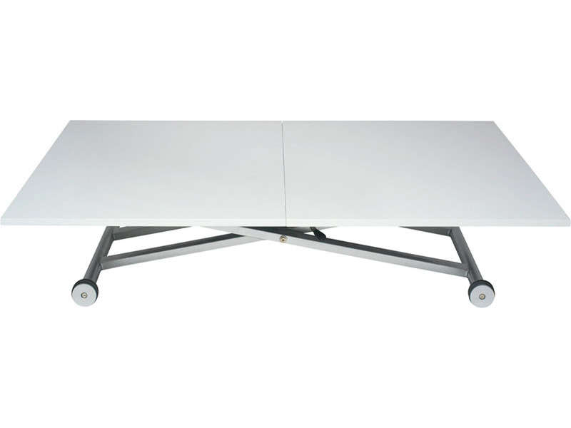 Table r glable en hauteur conforama for Table rabattable conforama
