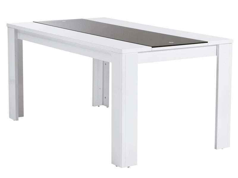 Table rectangulaire for Table blanche conforama