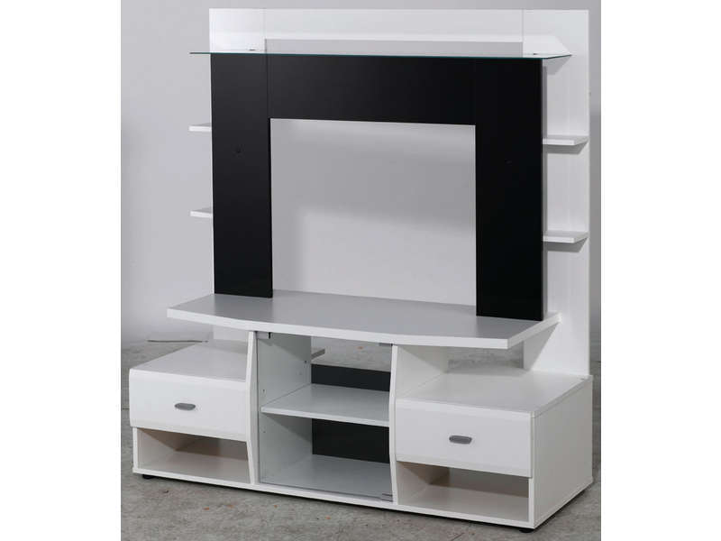 Meuble tv chambre conforama for Miroir warren silex
