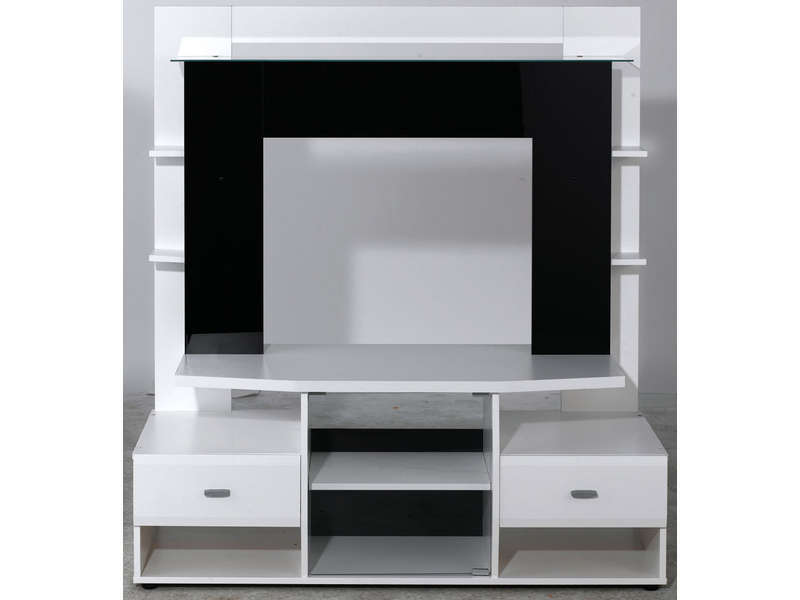meuble tv teneo coloris noir et blanc vente de meuble tv conforama. Black Bedroom Furniture Sets. Home Design Ideas