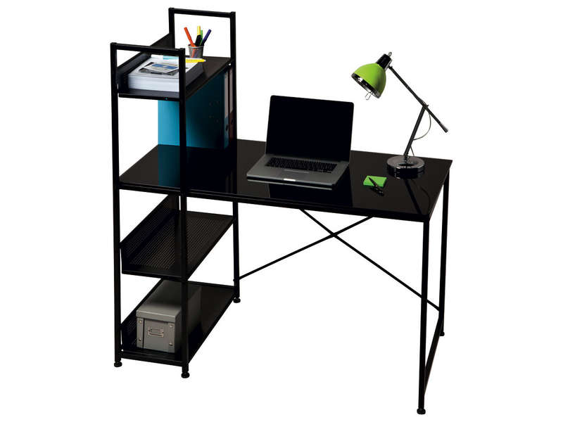 bureau allblack vente de bureau conforama. Black Bedroom Furniture Sets. Home Design Ideas