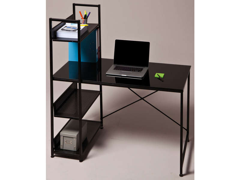 bureau en verre conforama. Black Bedroom Furniture Sets. Home Design Ideas