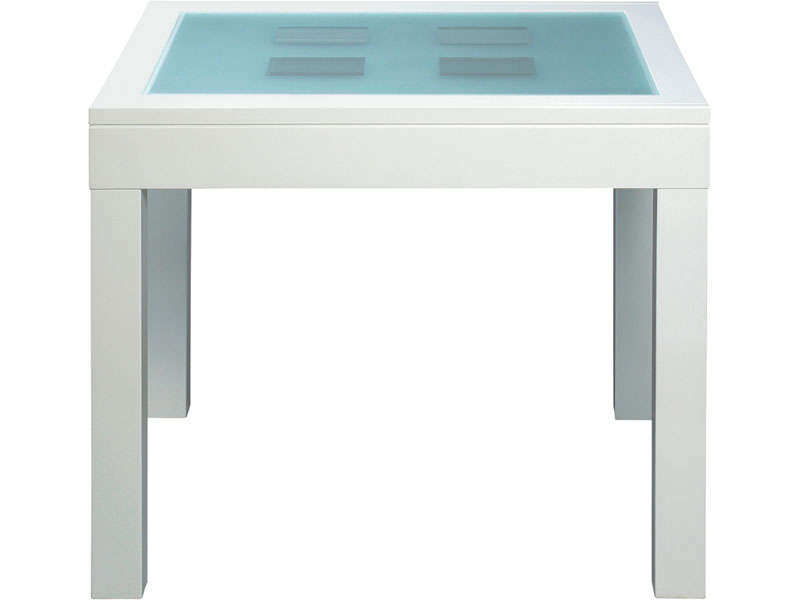 Table rectangulaire comete vente de table de cuisine for Table cuisine rabattable conforama