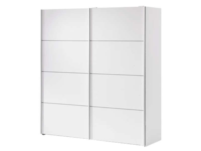 armoire 2 portes coulissantes 180cm verona coloris blanc. Black Bedroom Furniture Sets. Home Design Ideas