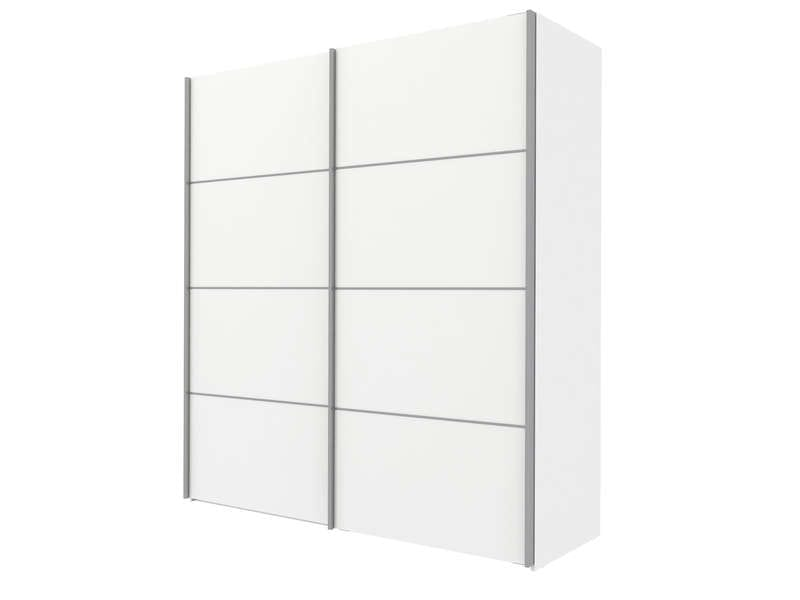 armoire 2 portes coulissantes 180cm verona coloris blanc vente de armoire conforama. Black Bedroom Furniture Sets. Home Design Ideas