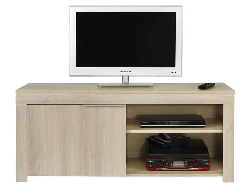 meuble tv rubis coloris acacia vente de meuble et support tv conforama. Black Bedroom Furniture Sets. Home Design Ideas