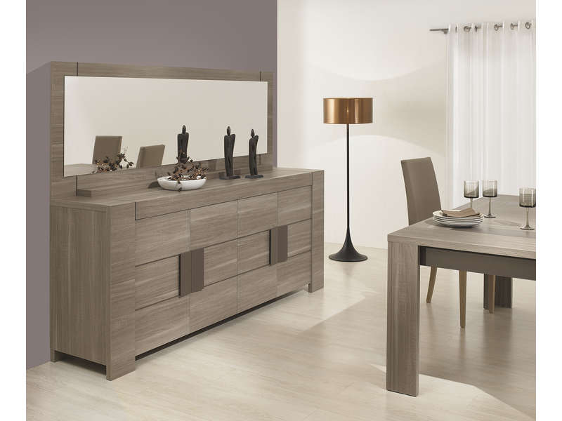 conforama buffet salon avec miroir table de lit. Black Bedroom Furniture Sets. Home Design Ideas