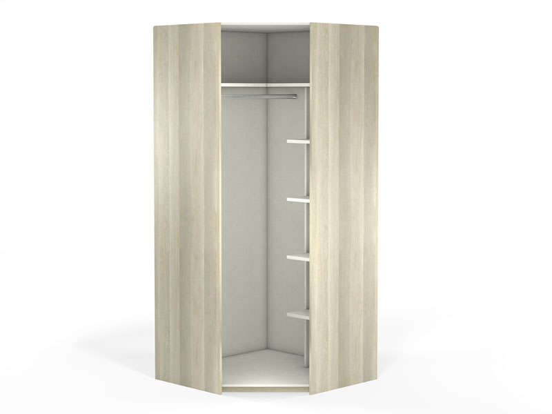 angle 1 porte 100 cm no limit coloris ch ne vente de armoire conforama. Black Bedroom Furniture Sets. Home Design Ideas