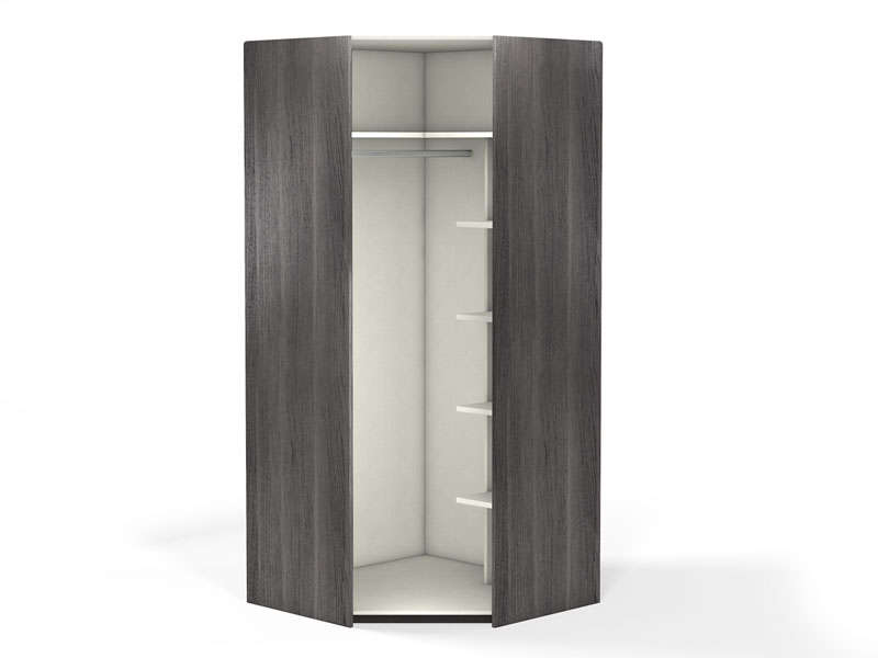 Angle 1 porte 100 cm no limit coloris fr ne vente de for Armoire angle chambre