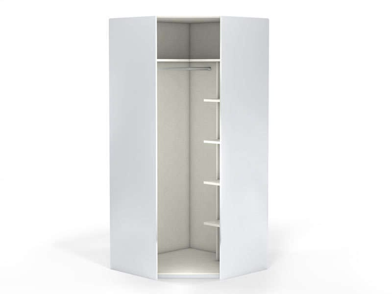 Angle 1 porte 100 cm no limit coloris blanc vente de for Meuble angle chambre