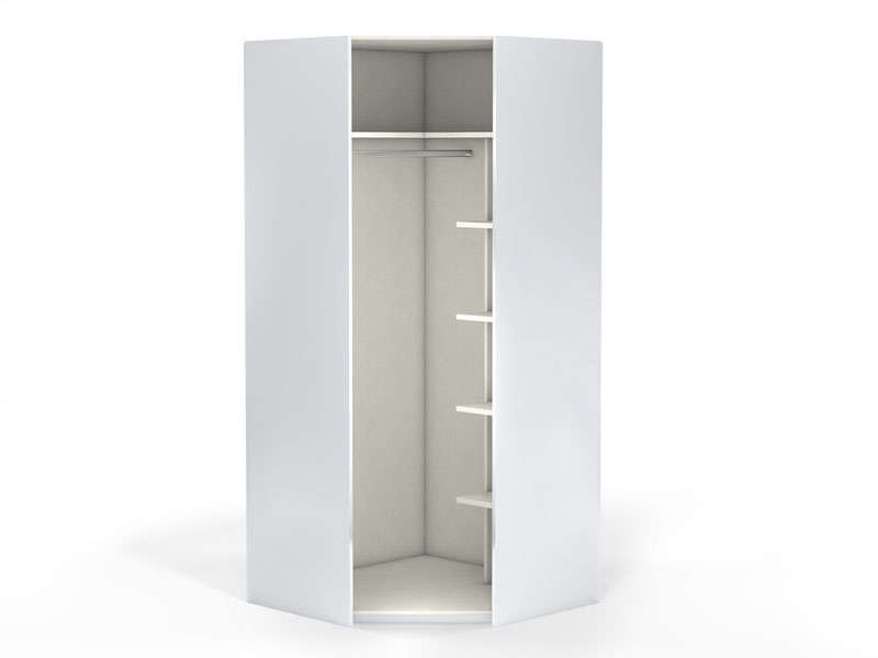 Angle 1 porte 100 cm NO LIMIT coloris blanc - Vente de Armoire ...