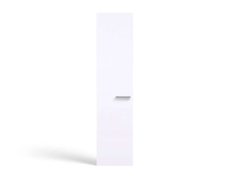 Porte 50 cm no limit coloris blanc vente de armoire for Armoire a balai conforama