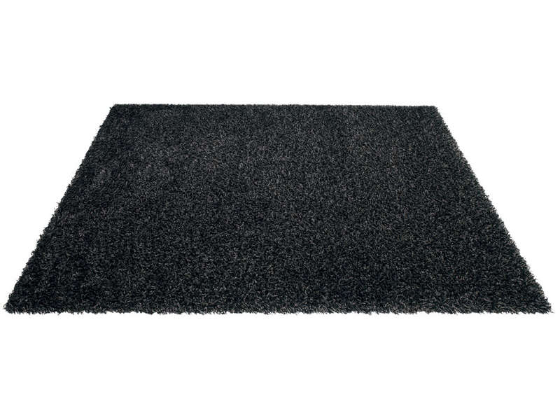 tapis 133x180 cm 100 polypropyl ne shaggy noir vente de tapis conforama. Black Bedroom Furniture Sets. Home Design Ideas