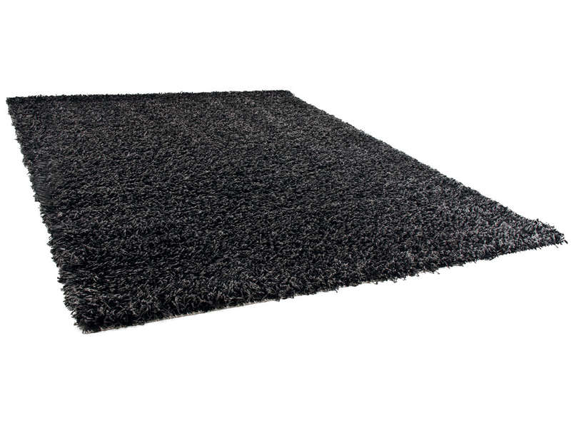 tapis 133x180 cm 100 polypropyl ne shaggy noir vente de tapis moyenne et grande taille. Black Bedroom Furniture Sets. Home Design Ideas