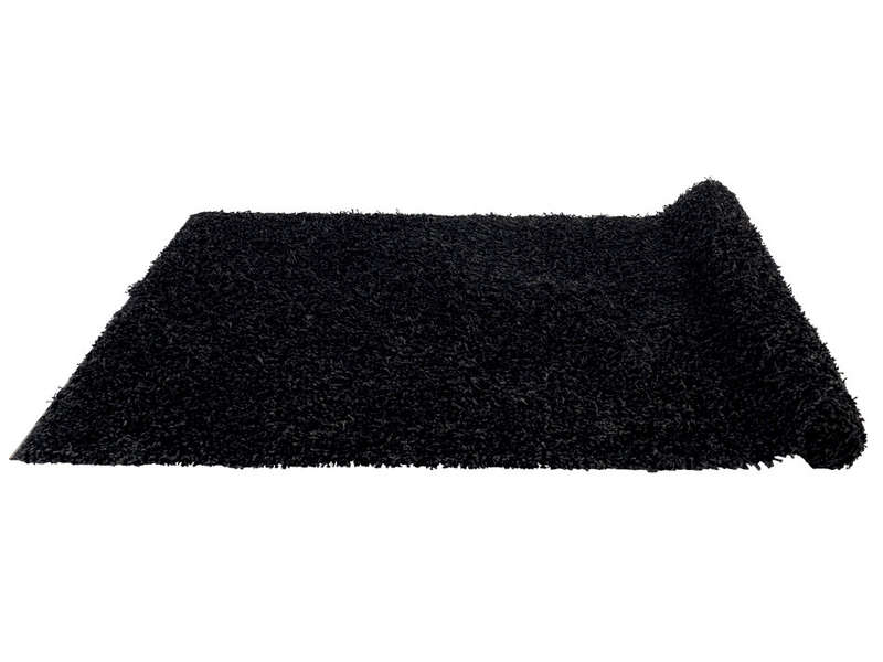 tapis 133x180 cm 100 polypropyl ne shaggy noir vente de. Black Bedroom Furniture Sets. Home Design Ideas