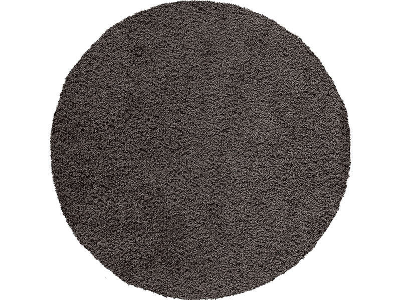 tapis rond cm shaggy coloris noir vente de tapis. Black Bedroom Furniture Sets. Home Design Ideas