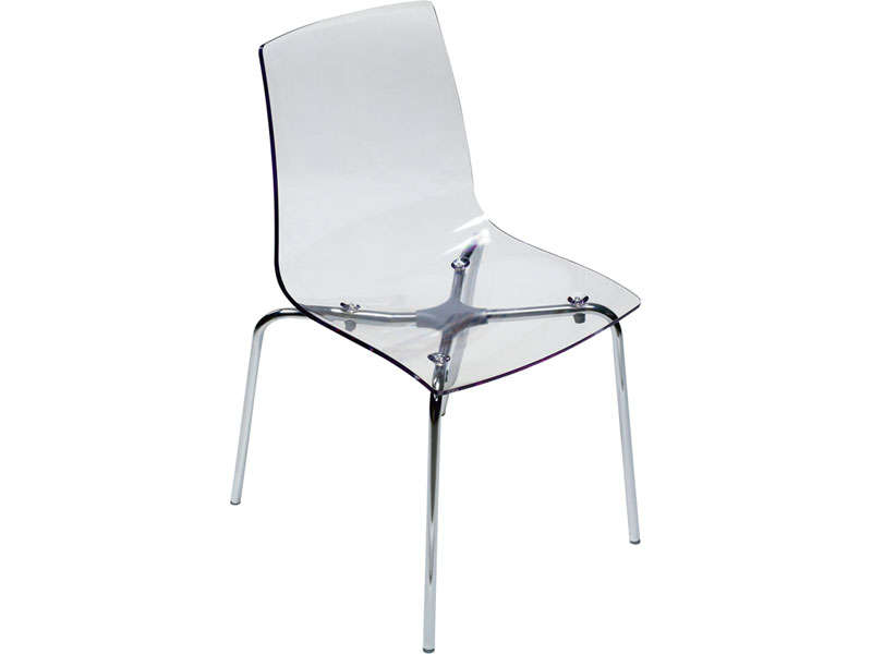 Chaise conforama transparente table de lit for Conforama chaise transparente