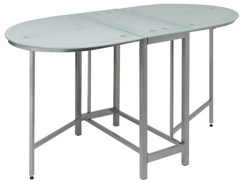Table lola vente de table de cuisine conforama for Table salle a manger pliante conforama