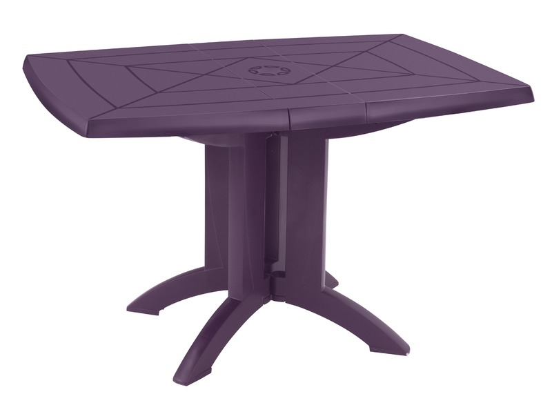 table pliante vega coloris aubergine vente de table et chaises de jardin conforama. Black Bedroom Furniture Sets. Home Design Ideas