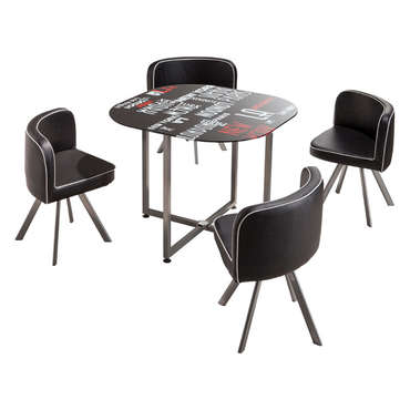 Set 1 table + 4 chaises