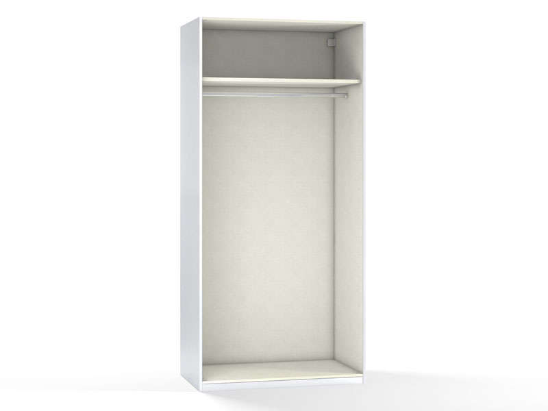 Caisse 2 portes 100 cm no limit coloris blanc vente de for Armoire penderie blanc conforama