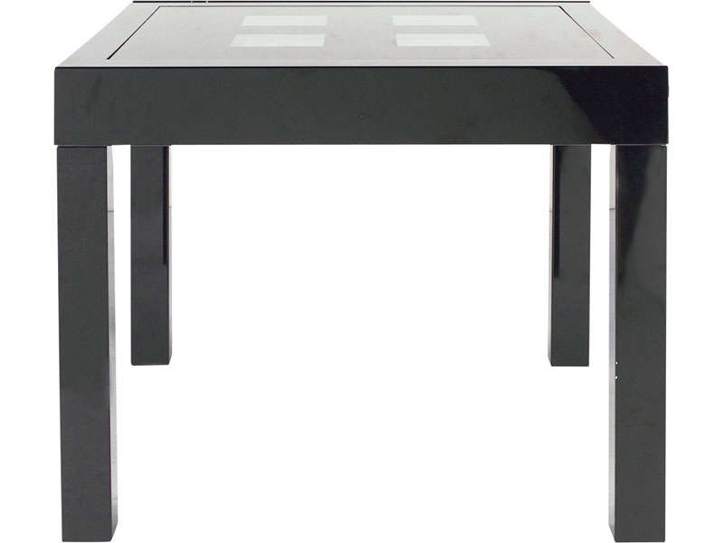 Table rectangulaire avec allonge 180 cm max comete ii - Table de chevet noir pas cher ...