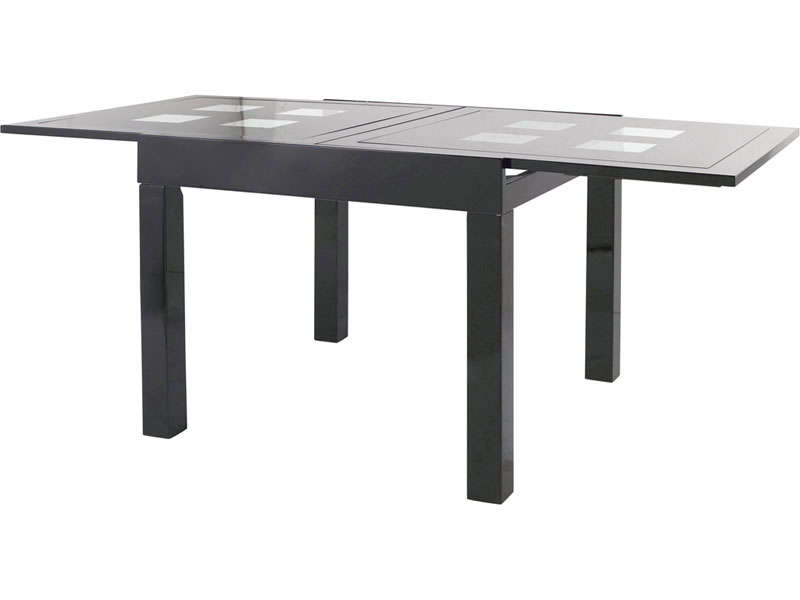 Table de cuisine noir for Table rallonge noire
