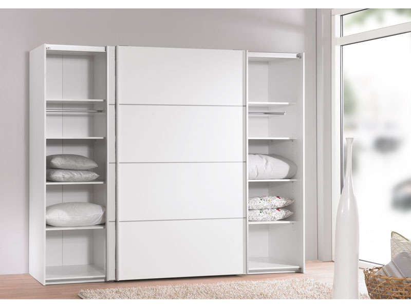 armoire 2 portes coulissantes 240 cm verona coloris blanc vente de armoire conforama. Black Bedroom Furniture Sets. Home Design Ideas