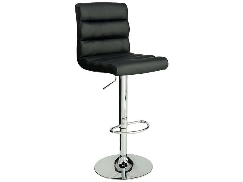 Tabouret de bar city coloris noir vente de bar et for Conforama chaises de cuisine